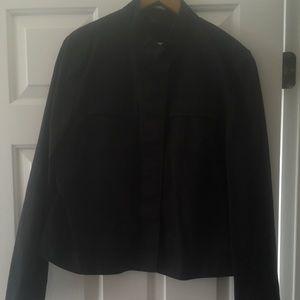 Gap XL Black Hidden Button Front Jacket